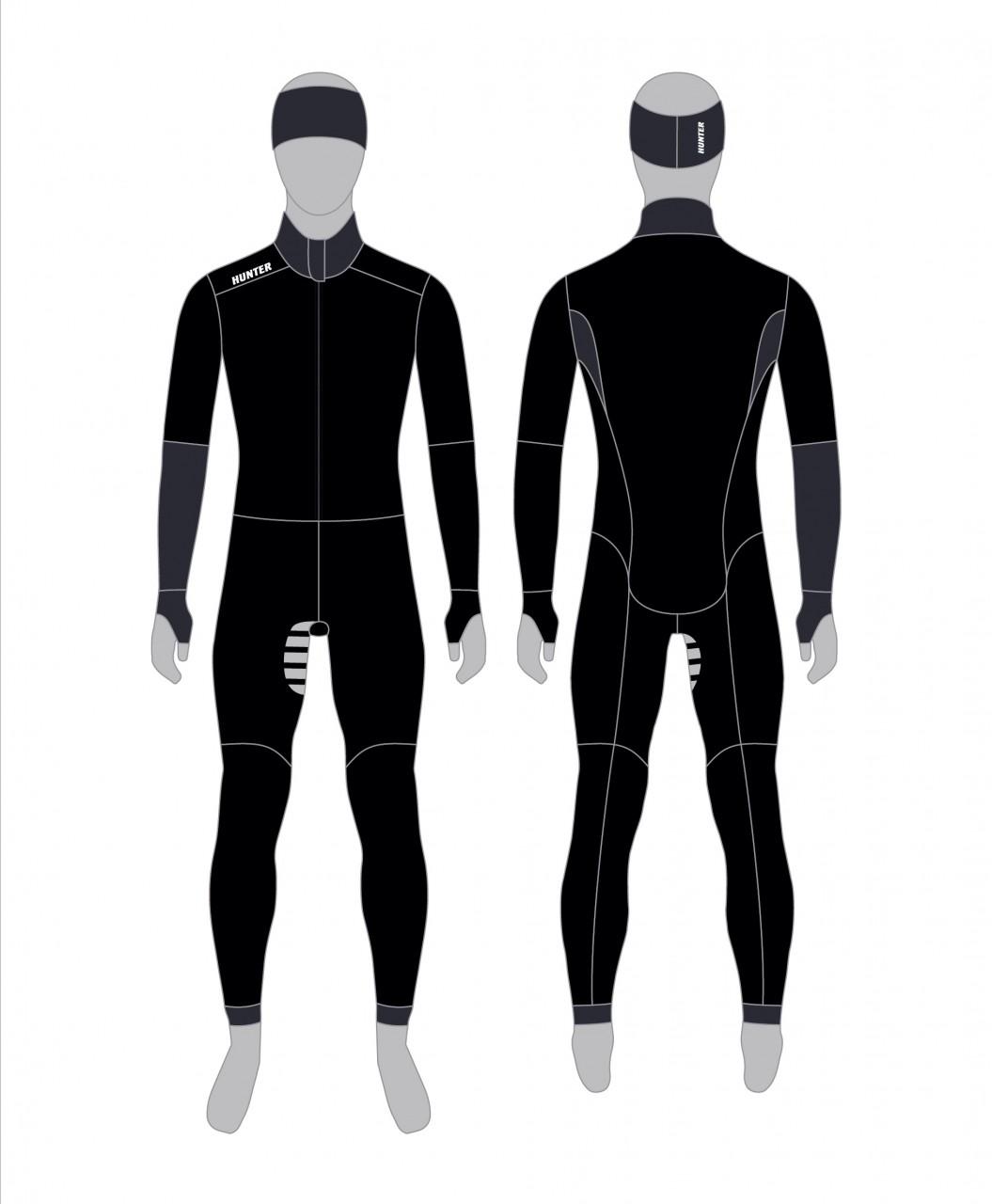 Hunter Thermoanzug ohne Kapuze Modell 2019 grau/schwarz, Base
